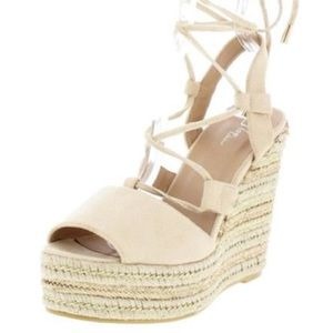 Shoes - New Blush Suede Espadrille Wedges from my boutique